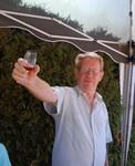 A la tienne, papa! Wijn en Dédé, een goeie combinatie.