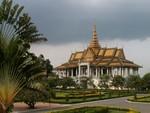 Le pavillon Chan Chaya, dans l'enceinte du palais royal à Phnom Penh
