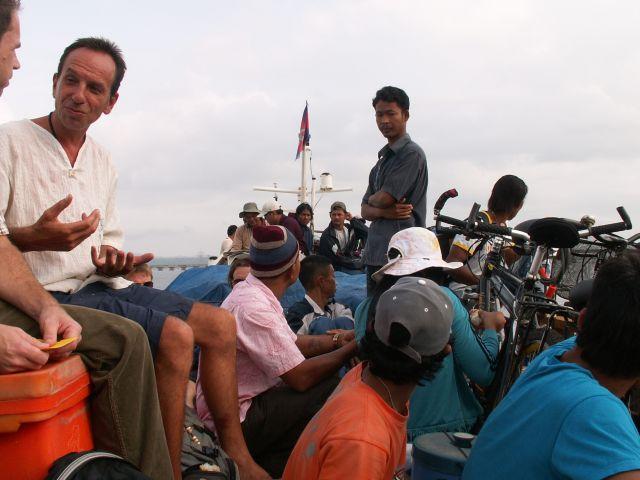 Sur le toit du speedboat vers Sihanoukville