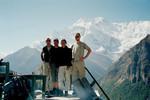 Notre petite équipe sur la plus belle terrasse du monde