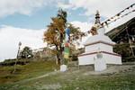 Stupa à la sortie de Manang