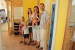 Samen op de foto met Marjan en kids.