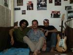 Tabriz underground, chez Arash, à droite, et avec Reza, à gauche