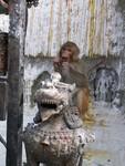 Les touristes appellent Swayambudnath