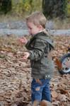In het bos lopen en nieuw fototoestel uitproberen.
