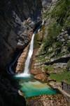 Les chutes de la Savica, près du lac Bohinj.